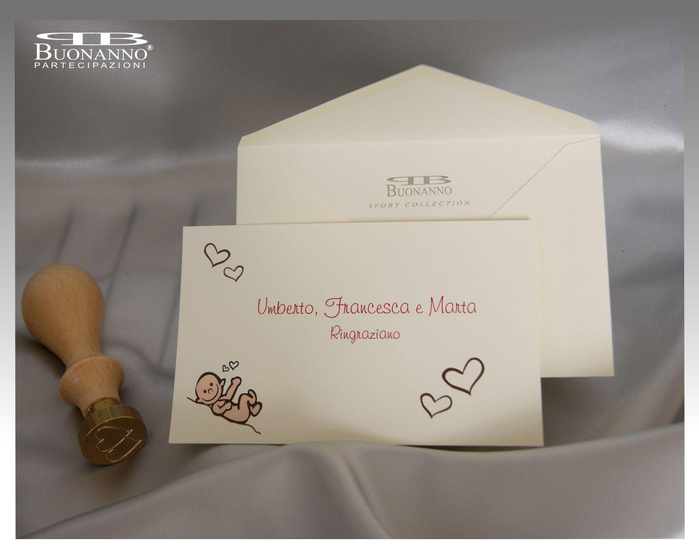 Bigliettini sposi e figlio - Ringraziamento tacchino al colore ...