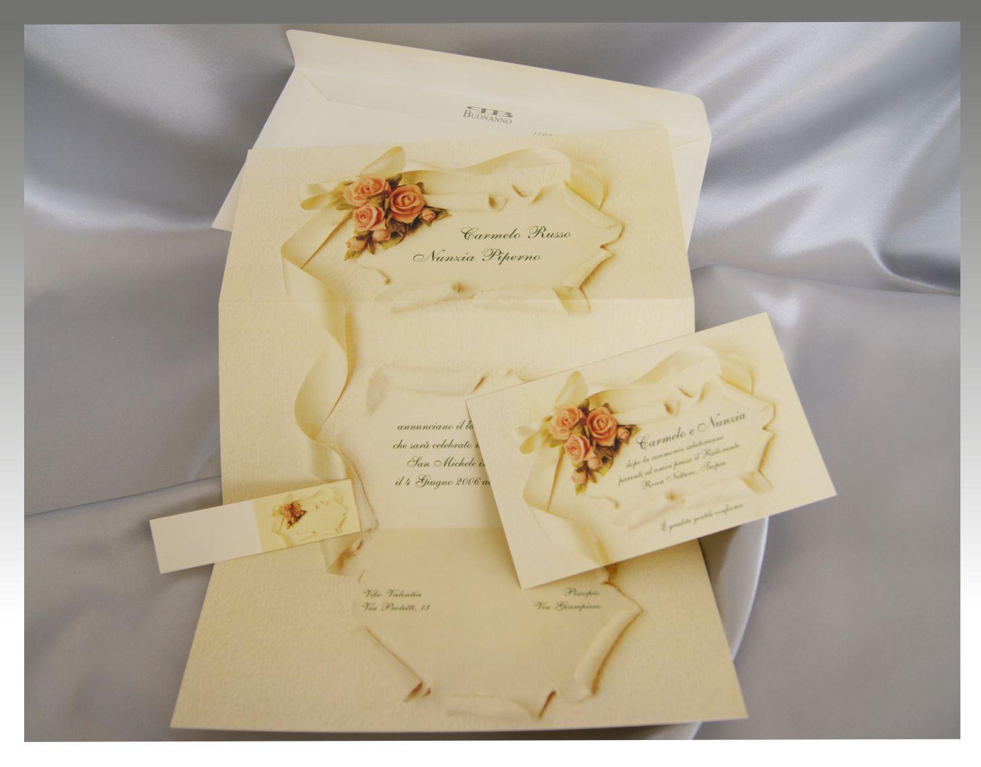Pergamena Matrimonio Simbolico : Inviti nozze pergamena
