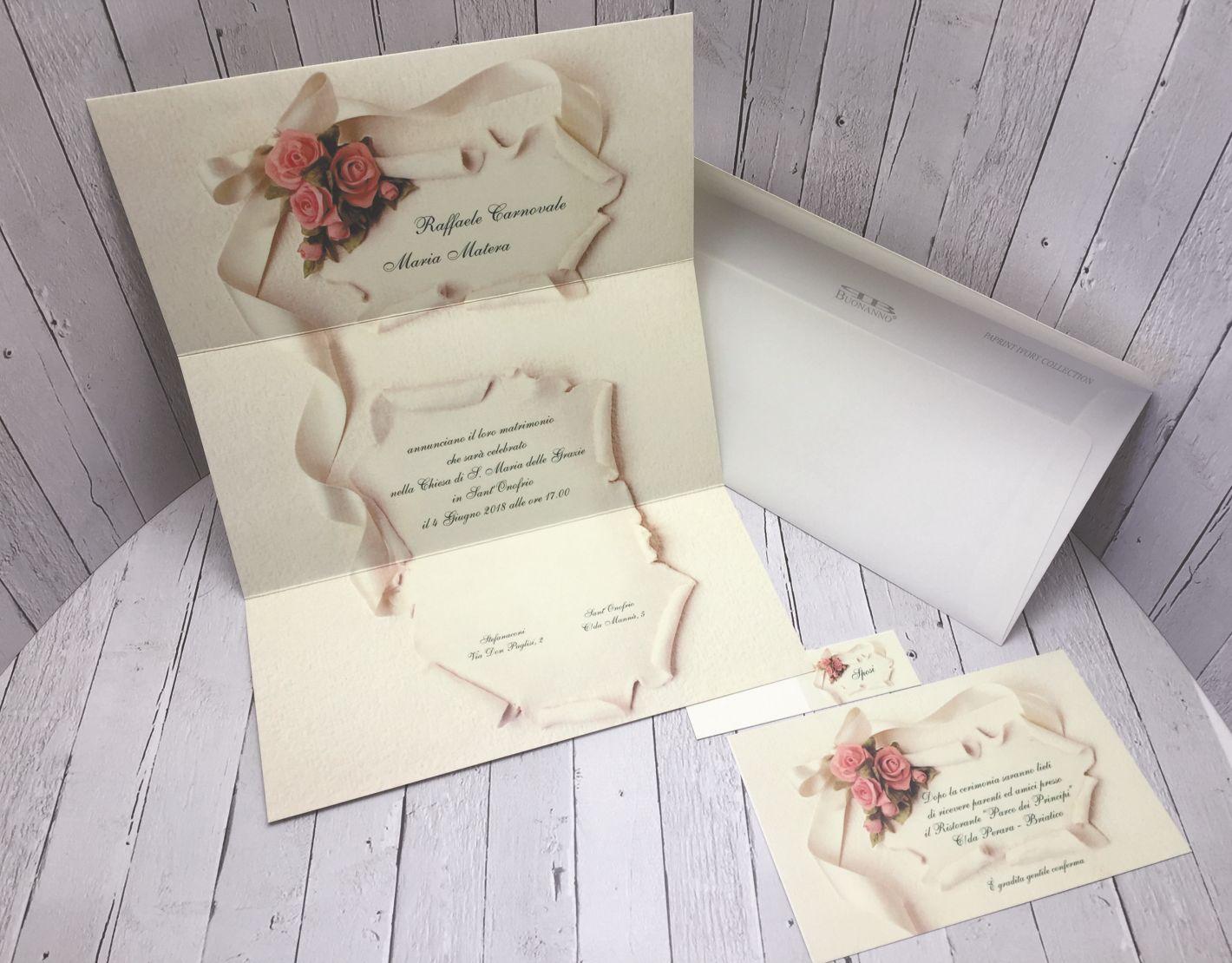 Partecipazioni Matrimonio Pergamena.Inviti Nozze Pergamena