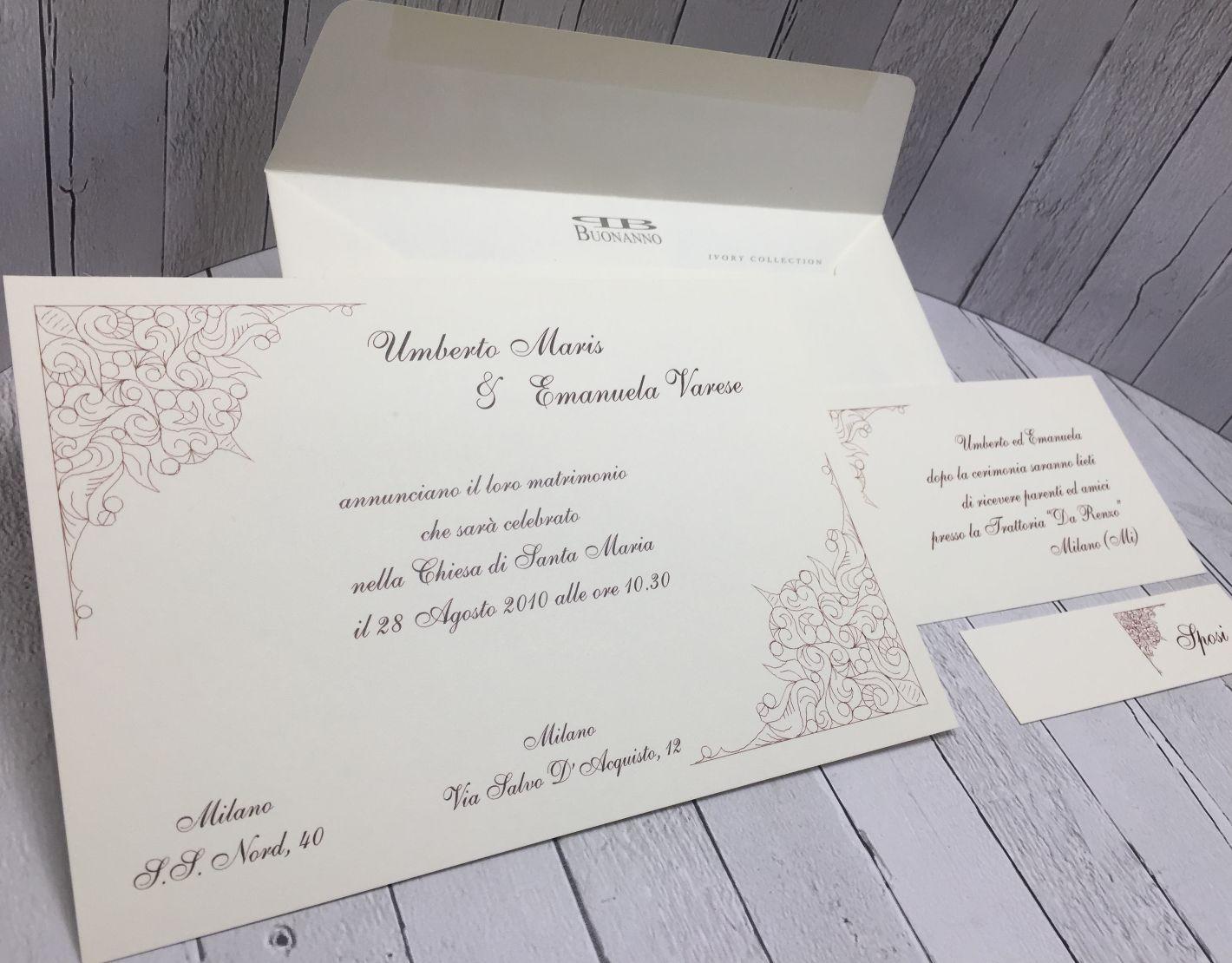 Partecipazioni Matrimonio Varese.Partecipazioni Matrimonio Inviti Nozze Buonanno N010 Sposi Ebay