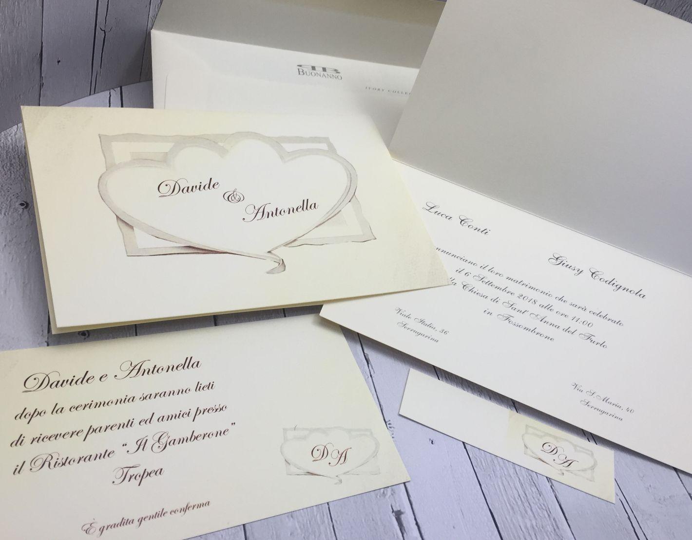 Partecipazioni Matrimonio On Line Low Cost.Partecipazioni Nozze Inviti Matrimonio Buonanno S037 Ebay