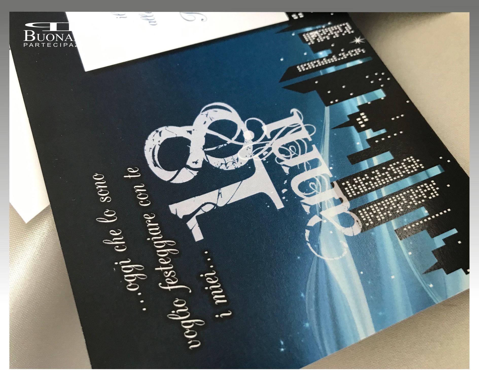 Biglietto Invito Compleanno 18 Anni